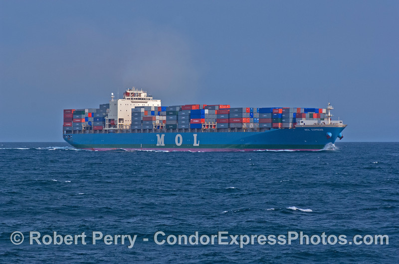 Container ship MOL Express.