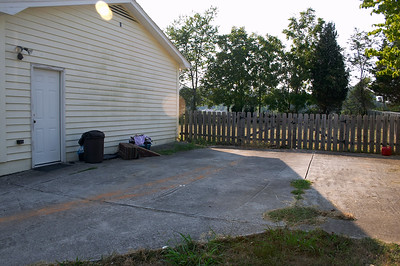 Spacious driveway beside the house