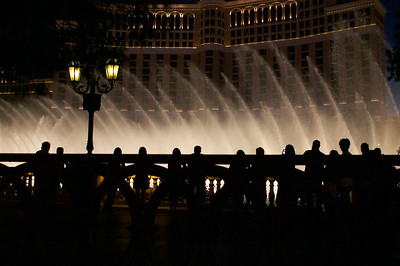 The water show at the Bellagio