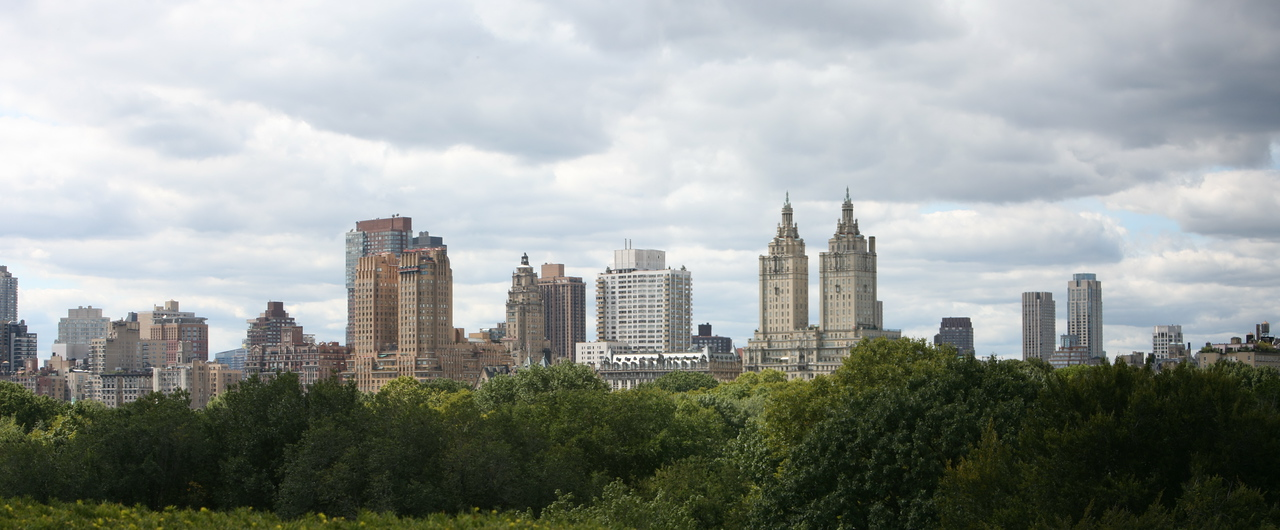 Panoramic view from the roof deck of the Metropolitan Museum of Art.