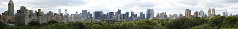 Panoramic view from the roof deck of the Metropolitan Museum of Art. The original image is over 44 megapixels.