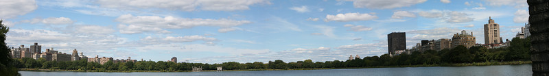 Panoramic view from inside Central Park. The original image is over 30 megapixels.