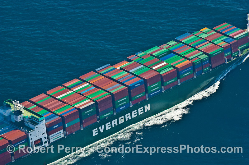 container vessel Ever Unique  from AIR 2007 09-15 AIR SB Channel-363