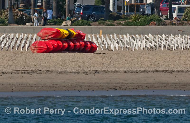 Kayaks and crosses