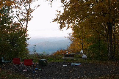 Our campsite overlooks the valley
