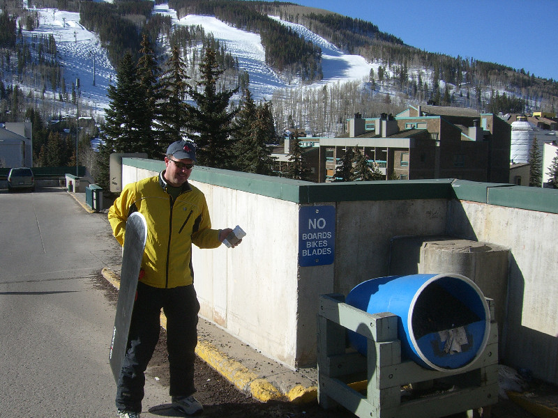 Say what?   No boards allowed at Vail!!!???