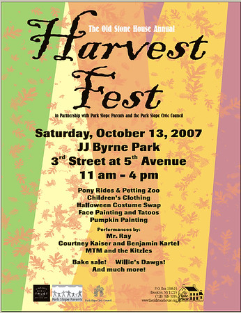 The Harvest Festival (Thanks to Mr. Ray and Kaiser/Cartel and Kim Maier- Old Stone House)