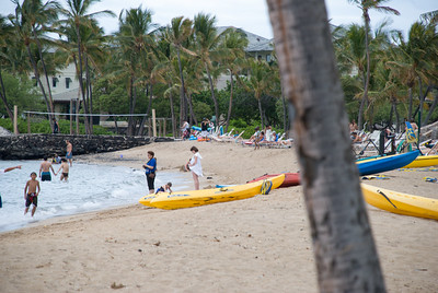 Deserted beach volley net