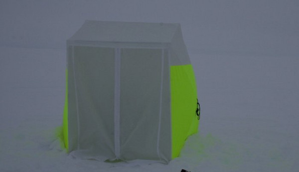 Party tent?<br /> Some of the tents are so flourescent, that you are able to see it in the snow.