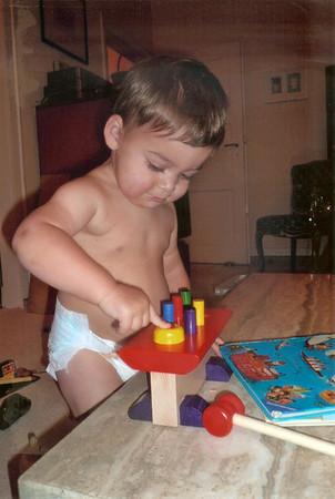 Lucas' new toy - same hammering fun as Papa had