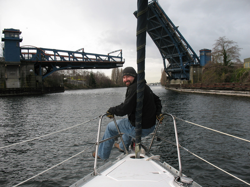 cruisin' through the Fremont bridge
