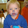Paint project at Primrose.  Don't worry mom, it is non-toxic!