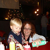 Aunt Nicole helps Aaron decorate