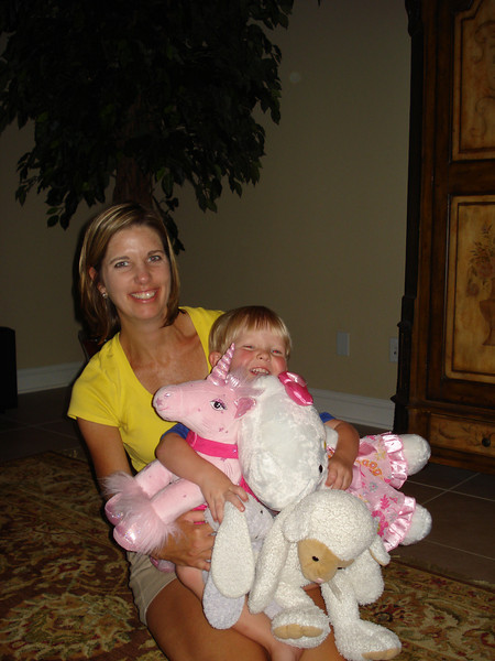 Thank you Megan for sharing your fuzzy pink unicorn.  Aaron loved to listen to it sing.