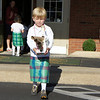 International Parade Day at Primrose.  Aaron with his bagpipe