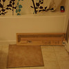 Home Depot tile with counter samples