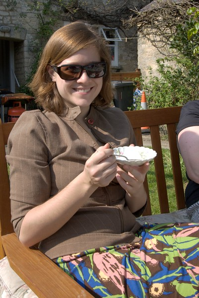 Leah • Leah enjoying some sorbets.