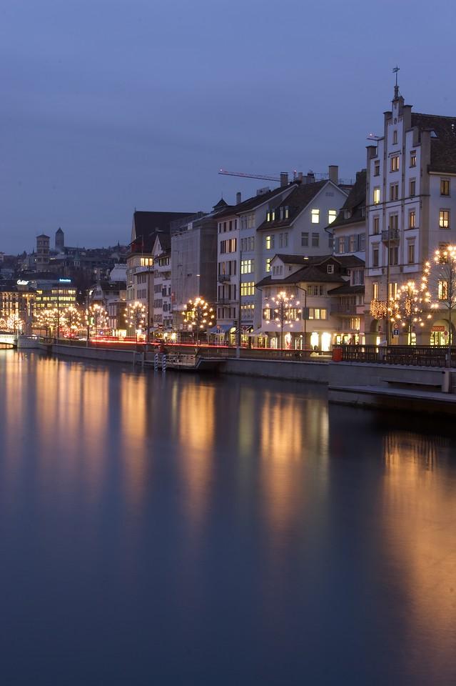Wein-Platz in the twilight