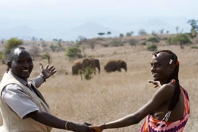 Thomas and Alois, Maasai hosts in Ndarakwai