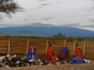 Kilimanjaro clears briefly; from Maasai BOMA