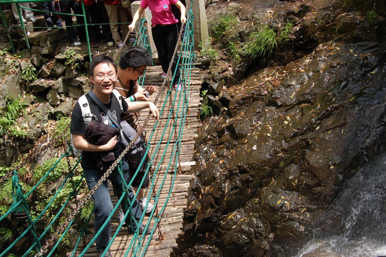 On the rickety bridge