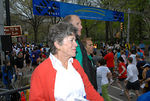 Sheila Labrecque with her son, Thomas G. Labrecque, Jr., President, Thomas G. Labrecque Foundation overlooking the start of the race