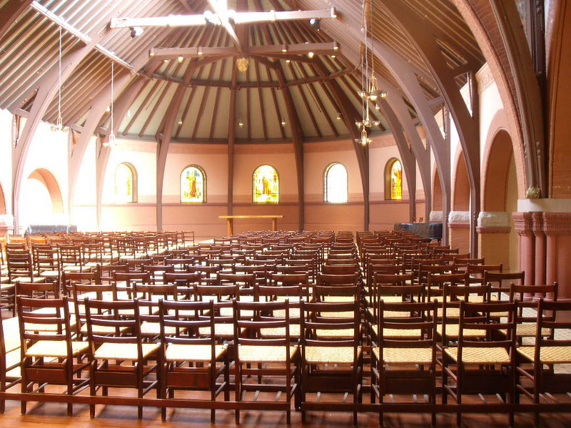 Inside the chapel at Dartmouth