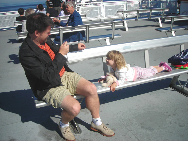 Top deck of the ferry en route to Portland (via Tsawwassen).
