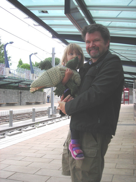 Waiting for the LRT.