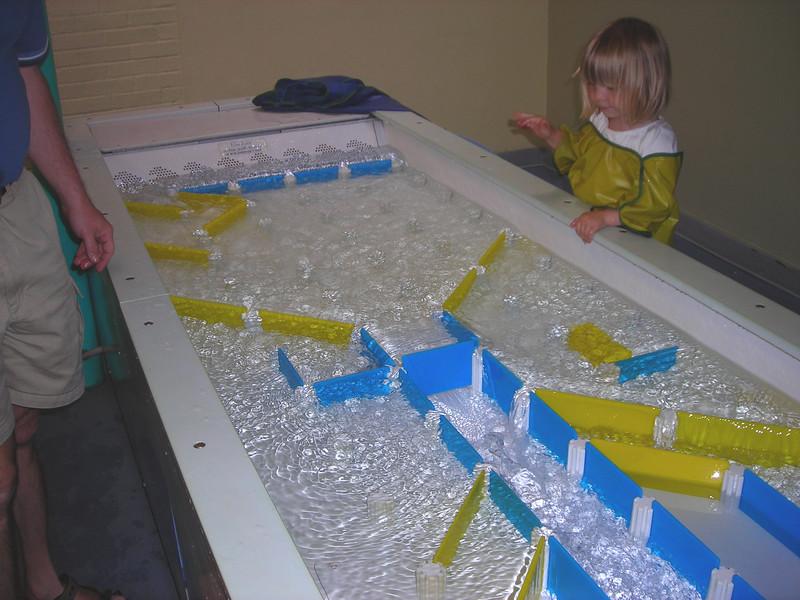Portland Children's Museum.  Cool water exhibit.