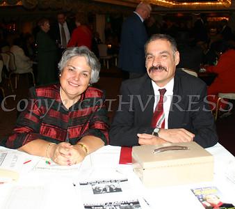 Carmen Vazqueztell and Peter Gonzalez at the Black and Hispanic Coalition Dinner Dance.