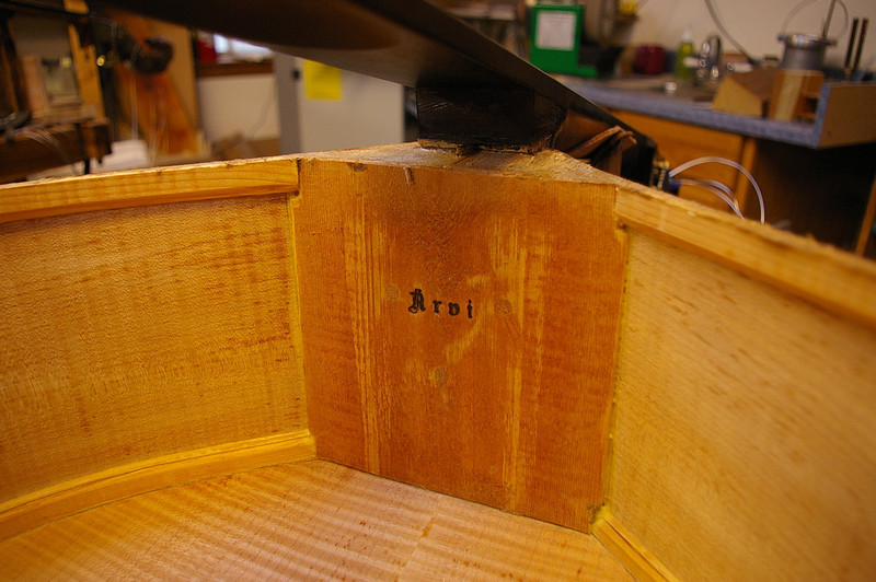 This is the neck block, marked with Kai Arvi's stamp.
