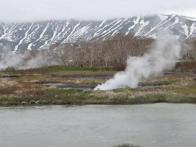 steam vents at Uzon Caldera - Andrew Gossen