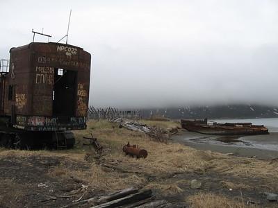 abandoned equipment at fishing village - Andrew Gossen