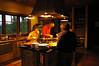 Preparing dinner at Bjerghuset