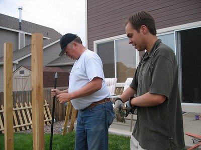 Building the Fence - May 2007