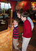 Cousins Joey, Isabel, and Benjamin at the Mexican restaurant.