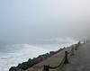 Golden Gate waves breaking on Marine Drive.