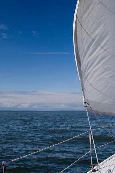 Under sail in the Georgia Straight