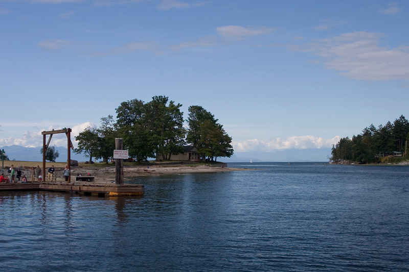 Newcastle island on the left and Protection Island on the right