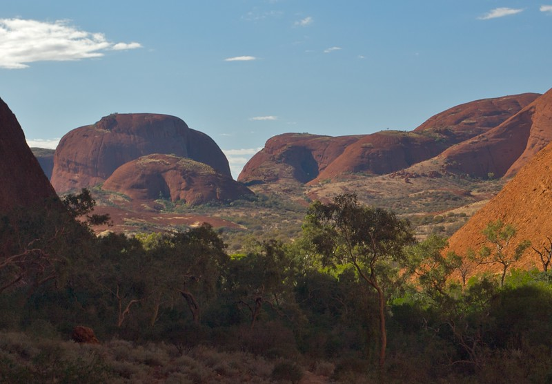 The Valley of the Winds • A view of some of the Olgas' domes on the 'Valley of the Winds' walk.