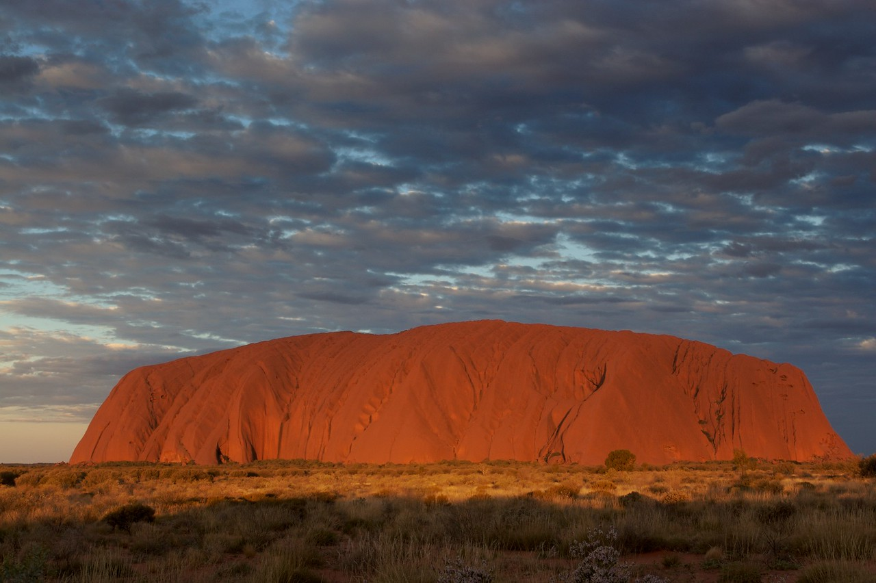 The changing face of Ayers' Rock 8 • It is frequently said that Ayers'Rock changes colour as the sun sets. This series of photos demonstrates how true that assertion is.
