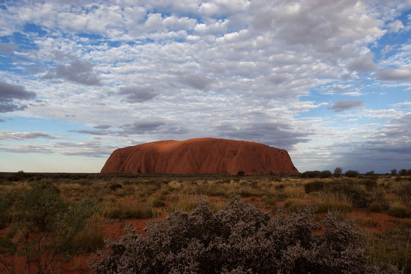 The changing face of Ayers' Rock 4 • It is frequently said that Ayers'Rock changes colour as the sun sets. This series of photos demonstrates how true that assertion is.