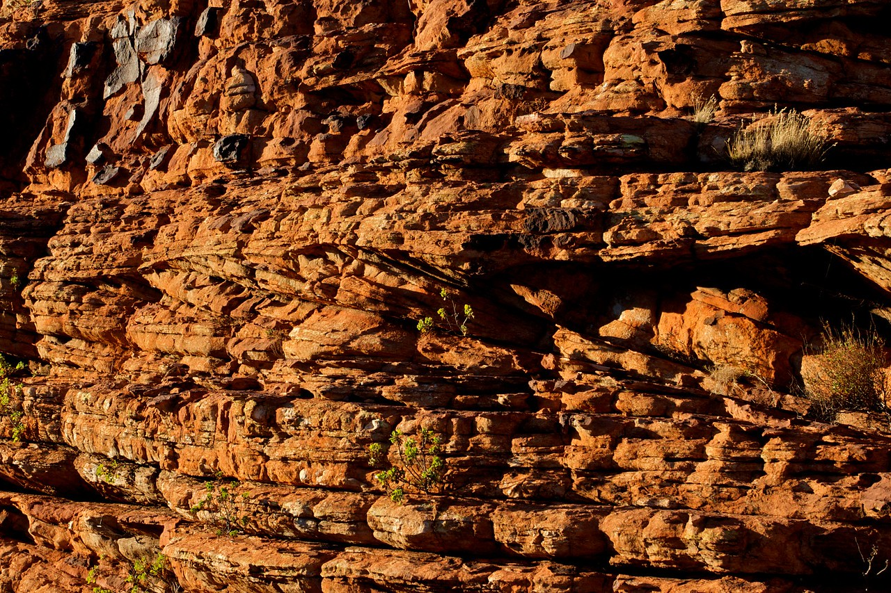 Sandstone • The clearly-layered sandstone of King's Canyon in the Northern Territory.