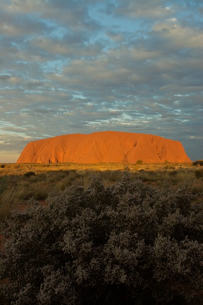 The changing face of Ayers' Rock 9 • It is frequently said that Ayers'Rock changes colour as the sun sets. This series of photos demonstrates how true that assertion is.