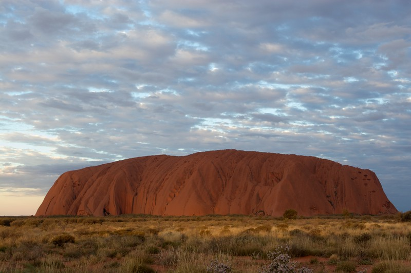 The changing face of Ayers' Rock 6 • It is frequently said that Ayers'Rock changes colour as the sun sets. This series of photos demonstrates how true that assertion is.
