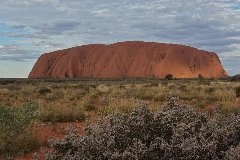 The changing face of Ayers' Rock 1 • It is frequently said that Ayers' Rock changes colour as the sun sets. This series of photos demonstrates how true that assertion is.