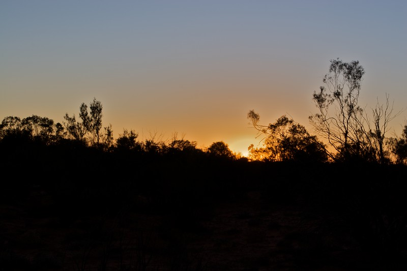 Sunrise at Rainbow Valley