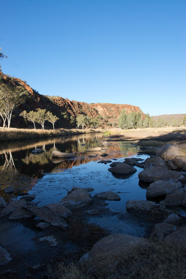 Boggy Hole • Late-afternoon reflections at Boggy Hole, in the Finke Gorge National Park (Northern Territory).