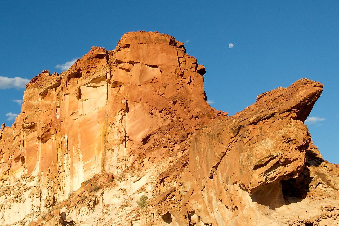 Rainbow Valley • The moon appears overhead the rock at Rainbow Valley, about 70km south-east of Alice Springs.